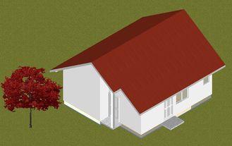 Chine Protection contre l'incendie préfabriquée en acier légère de maisons de pavillon anti-mites, petites maisons manufacturées fournisseur