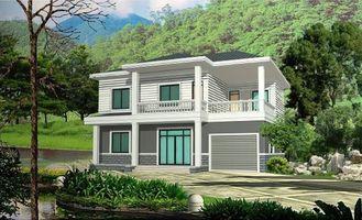 Chine La villa rurale préfabriquée avec le cadre en acier léger, assemblent vite le logement modulaire préfabriqué fournisseur