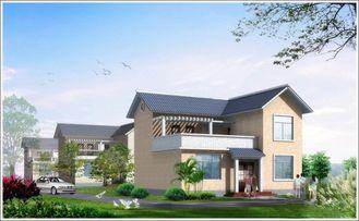Chine L'acier léger de 2 histoires a préfabriqué la maison de Woden, Chambre en acier préfabriquée blanche pour la vie fournisseur