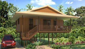 Chine Pavillon en bois de Chambre de la Thaïlande de vacances, pavillons de plage de Samui de KOH fournisseur