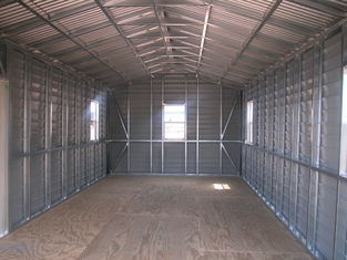 Chine Le hangar d'acier de pignon préfabriqué par USA, stockage de voiture jette les bâtiments en acier fournisseur