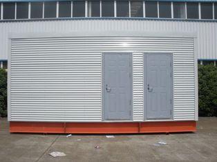 Chine Maisons modulaires préfabriquées multifonctionnelles de cadre en acier pour la toilette/bureau mobiles fournisseur