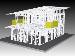 Chine Chambres de cadre en acier légères de bureau, maison préfabriquée de kit pour l'Afrique du Sud fournisseur