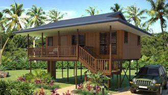 Chine Chambre en bois de regard de pavillons à la maison imperméables de plage étanche à l'humidité fournisseur