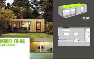 Chine Les studios de jardin de cabines/ont préfabriqué le studio de jardin avec le cadre en acier léger fournisseur