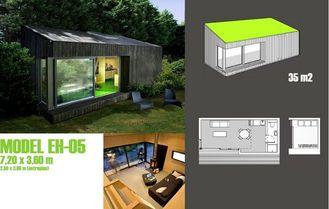Chine Studio préfabriqué de jardin pour le bureau, studio préfabriqué de jardin dans le jardin fournisseur