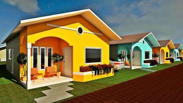 Chine Le pavillon préfabriqué de conception professionnelle autoguide de petites maisons modulaires modernes distributeur
