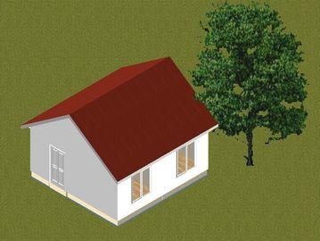 Chine Le petit pavillon préfabriqué de cadre en acier de famille autoguide/maison préfabriqué contemporain distributeur