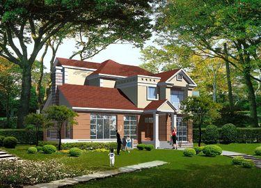 Chine Villa légère préfabriquée de structure métallique de mesure, Chambres préfabriquées en acier distributeur