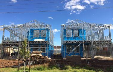 La villa préfabriquée légère de cadre en acier/assemblent vite les maisons préfabriquées/la villa cadre en acier de Lignt