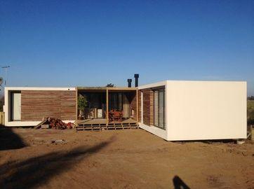 Les Chambres préfabriquées modernes de structure métallique, maison de pavillon de l'Uruguay prévoit