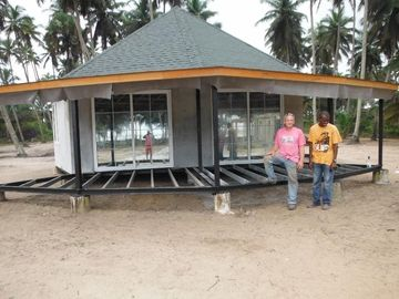 Pavillon préfabriqué de Bali de nouvelle conception, pavillons d'Overwater pour le bord de la mer