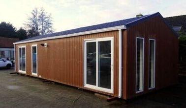 Le toit plat moderne a préfabriqué la Chambre, les maisons prêtes à l'emploi ignifugent la caravane résidentielle, Belgique a exporté des caravanes résidentielles