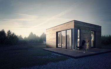 Studio préfabriqué de jardin de Chambre préfabriquée avec le stockage léger de cadre en acier